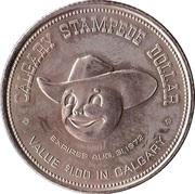 Stampede Dollar - Calgary, Alberta – reverse