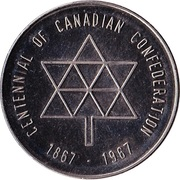 Admission Token - Calgary Zoo (Centennial of Canadian Confederation) – obverse