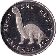 Admission Token - Calgary Zoo (Centennial of Canadian Confederation) – reverse