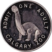 Admission Token - Calgary Zoo (Big horn) – reverse