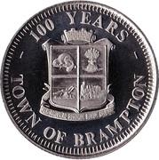 Centennial Dollar - Brampton, Ontario – obverse