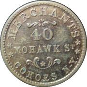 1 Cent (Alden & Frink) – reverse
