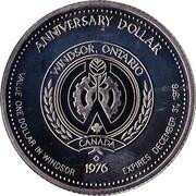 Anniversary Dollar - Windsor, Ontario – reverse
