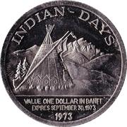Festival Dollar - Banff, Alberta – reverse