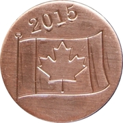 Royal Canadian Mint Token - Canada Day 2015 – reverse