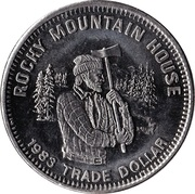 Trade Dollar - Rocky Mountain House, Alberta – obverse