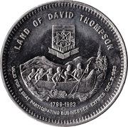 Trade Dollar - Rocky Mountain House, Alberta – reverse