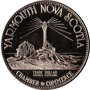 Trade Dollar - Yarmouth, Nova Scotia – reverse