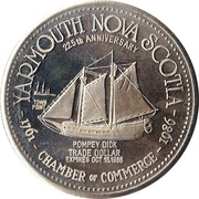 Trade Dollar - Yarmouth, Nova Scotia – reverse