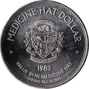 Medicine Hat Dollar - Medicine Hat, Alberta – reverse