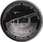 Confederation Bridge Dollar - Summerside, Prince Edward Island – obverse