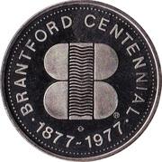 Anniversary Dollar - Brantford, Ontario – obverse