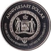 Anniversary Dollar - Brantford, Ontario – reverse