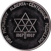Centennial Medallion - Fort McMurray, Alberta – reverse
