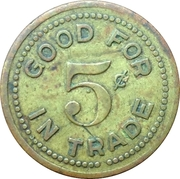 5 Cents - Ray Ankenbauer's (Chicago, Illinois) – reverse
