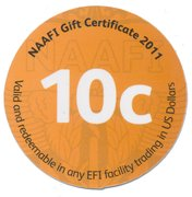 10 Cents - NAAFI Gift Certificate – reverse