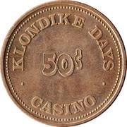 50 Cents - Klondike Days Casino (Edmonton, Alberta) – reverse