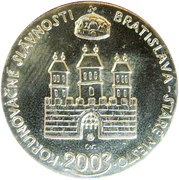 Token - Bratislavské korunovačné slávnosti (Maximilián) – reverse