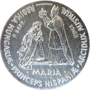 Token - Bratislavské korunovačné slávnosti (Mária) – obverse