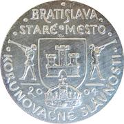 Token - Bratislavské korunovačné slávnosti (Mária) – reverse