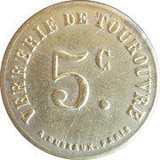 5 Centimes - Verrerie - Tourouvre [61] – obverse