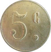 5 Centimes - Verrerie (Tourouvre) – reverse