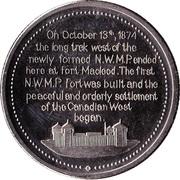 Medallion - Fort Macleod, Alberta (Centennial) – obverse