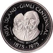 Medallion - Gimli, Manitoba (Centennial) – reverse