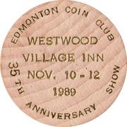 Wooden Nickel - Edmonton Coin Club – reverse