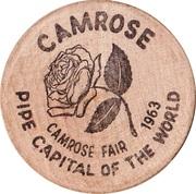 Wooden Nickel - Camrose, Alberta – obverse