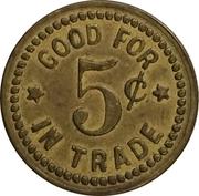 5 Cents - H.I. Chadwick (New Plymouth, Idaho) – reverse