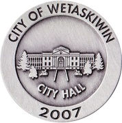 Medallion - Wetaskiwin, Alberta (City Hall) – reverse