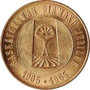 Token - Saskatchewan Diamond Jubilee – obverse