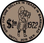1 Dollar - Barrhead, Alberta – reverse