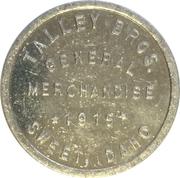 10 Cents - Talley Bros. General Merchandise (Sweet, Idaho) – obverse
