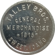 50 Cents - Talley Bros. General Merchandise (Sweet, Idaho) – obverse