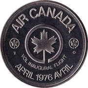 Medallion - Air Canada (Inaugural Flight) – reverse