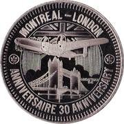 Medallion - Air Canada (Inaugural Flight) – obverse