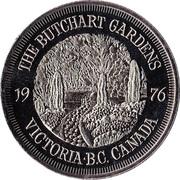 Medallion - Victoria, British Columbia (Butchart Gardens) – reverse