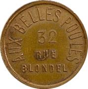 Token - Aux Belles Poules (Paris) – reverse