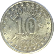 10 Cents - Headquarters (Lewiston, Idaho) – reverse