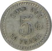 5 Cents - F. & S. (Caldwell, Idaho) – reverse