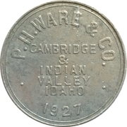 1 Dollar - P. H. Ware & Co. (Cambridge & Indian Valley, Idaho) – obverse