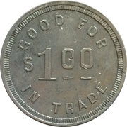 1 Dollar - P. H. Ware & Co. (Cambridge & Indian Valley, Idaho) – reverse