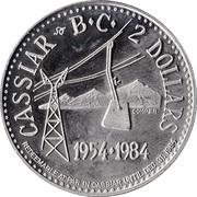 2 Dollars - Cassiar, British Columbia – reverse