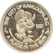 Spoolmak Trade Dollar - Kamloops, British Columbia – reverse