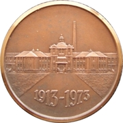 Medal - Saskatchewan Hospital 60th anniversary – reverse