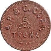 1 Cent - A.P. & C. CORP. (Trona, California) – obverse