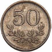 50 Heller (Berndorf; Private, Lower Austria, Arthur Krupp AG) – reverse