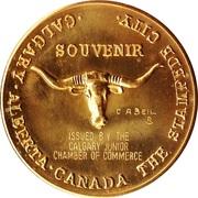 Souvenir Medal - Calgary, Alberta (Calgary Stampede) – reverse